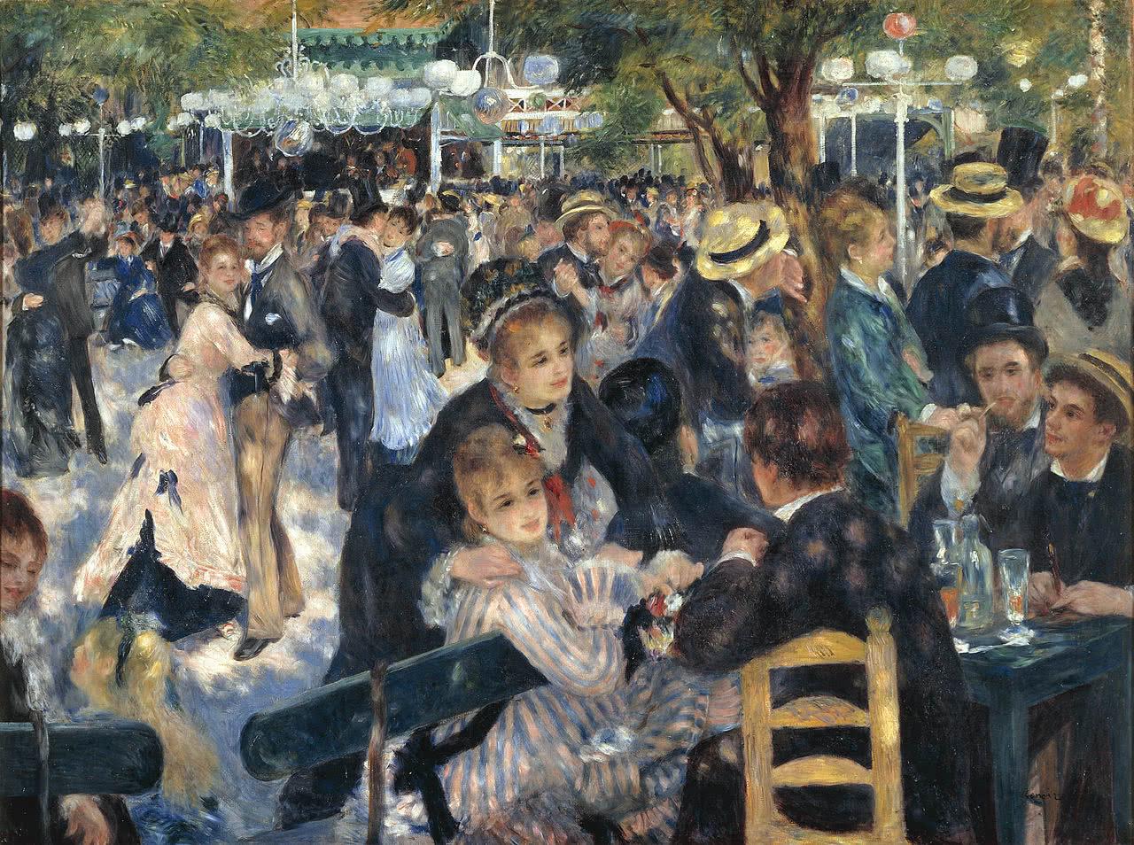 Renoir. Bal du Moulin de la Galette (1876).