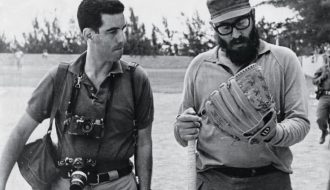 Lee Lockwood. Lockwood on the baseball field with Castro, 1964.
