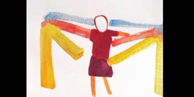 Sans titre (Sin título), 2013. Acuarela y mina de plomo sobre papel. 30 x 40 cm. Cortesía de la artista y Peter Freeman, Inc.