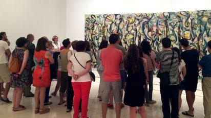 Exposición 'Mural. Jackson Pollock. La energía hecha visible' en el Museo Picasso Málaga. © Museo Picasso Málaga.