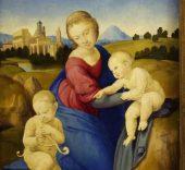 Rafael. La Virgen y el Niño con san Juan Bautista, c. 1508. Budapest, Museo de Bellas Artes.