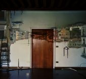 Abelardo Morell. Camera obscura. Image of the grand canal looking west toward the accademia bridge in palazzo room under construction. Venice, 2007.