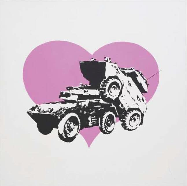 Banksy, Every time I make love to you I think of someone else. Vroom & Varossieau.
