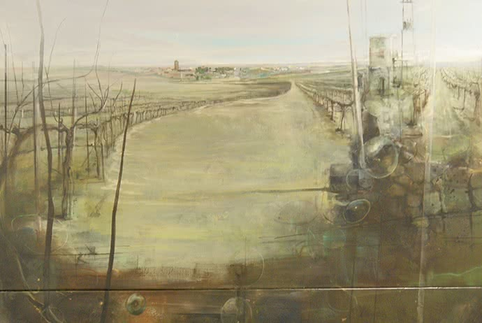 'De la necesidad, la luz y la oscuridad', de Fernando Wilson Ruiz. Primer Premio de Pintura del XVI Certamen Nacional Ciudad Autónoma de Melilla.