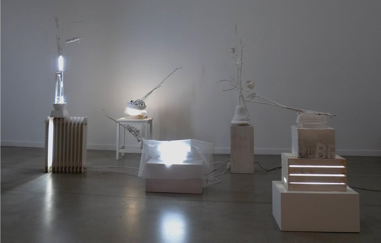 Fotografía del estudio de Bernardí Roig en Benissalem, 2016.