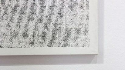 Miguel Ángel Barba. Exis, 2015. Técnica mixta sobre lienzo. 157 x 225 cm.