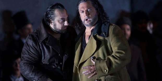 Barítono: George Petean (Iago) / tenor: Gregory Kunde (Otello). Fotógrafo: Javier del Real | Teatro Real.