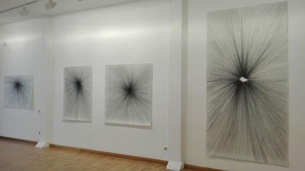 Ramon Sicart. De punts i ratlles des d'un altre jo (De puntos y rayas desde otro yo). Galería Sicart.