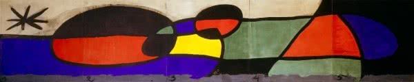 Joan Miró. Maqueta del mural de cerámica del aeropuerto de Barcelona, 1970. Fundació Joan Miró, Barcelona. Foto: Jaume Blassi.