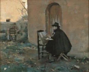Retratándose de Ramon Casas (1890). © Museu del Cau Ferrat (Archico fotográfico del Consorci del Patrimoni de Sitges).