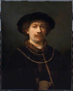 Rembrandt Autorretrato con gorra y dos cadenas, c. 1642-1643 © Museo Thyssen-Bornemisza, Madrid.
