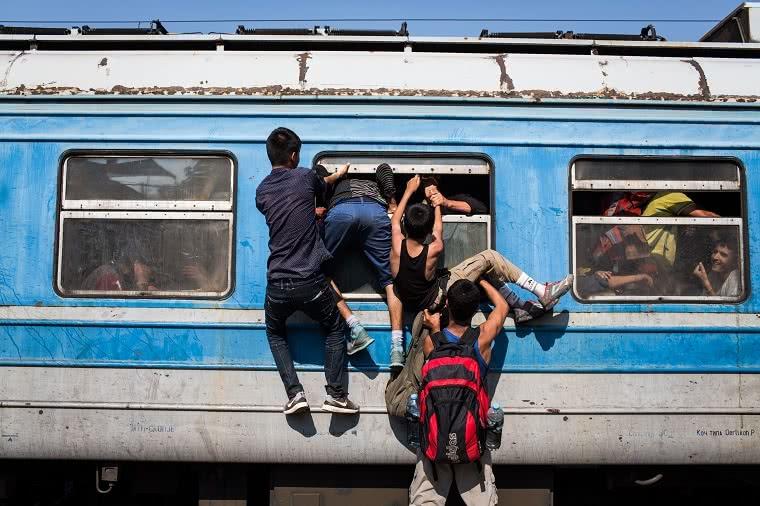 © UNHCR/Andrew McConnell. 22-07-15. Estación de trenes de Gevgelija, Antigua República Yugoslava de Macedonia.