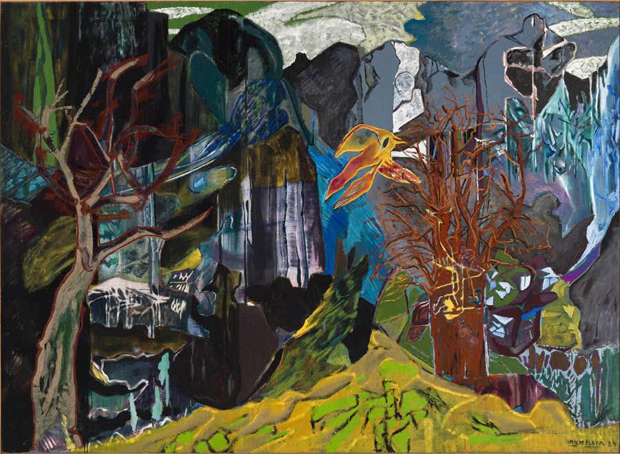 Ave del Paraíso, 1984. Óleo sobre lienzo. 200 x 276 cm. Colección del artista.
