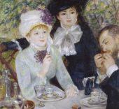 Pierre-Auguste Renoir. Después del almuerzo, 1879 (After the Luncheon). Óleo sobre lienzo. 100,5 x 81,3 cm. Frankfurt am Main, Städel Museum.