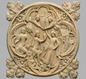 Estuche para espejo. Francia, 1370-1400.