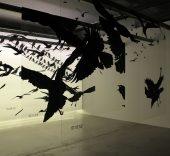 Vista de la exposición Hitchcock. Más allá del suspense. Espacio Fundación Telefónica, Madrid. Foto: Luis Martín.