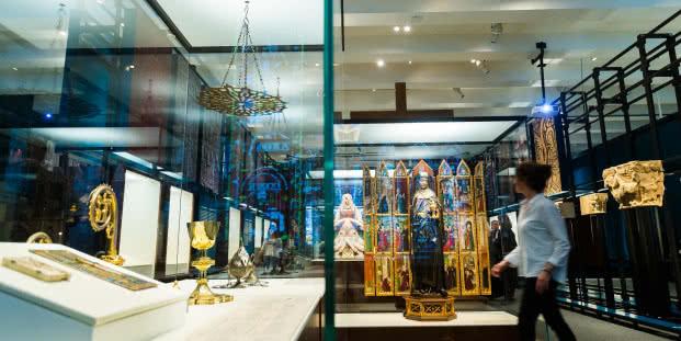 Vista de la exposición 'Los pilares de Europa. La Edad Media en el British Museum'.