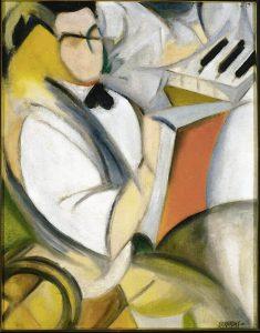 Rafael Barradas, Retrato de Antonio, hacia 1920-1922. Óleo sobre lienzo, 80,7 x 68,6 cm.