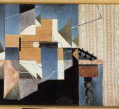Juan Gris, La guitare sur la table, 1913. Óleo sobre lienzo, 85 x 97 cm.