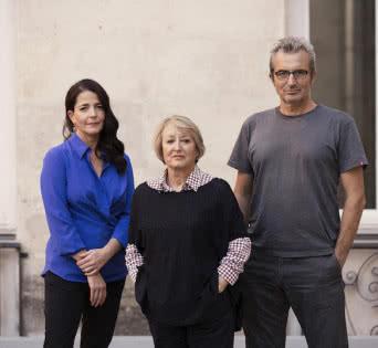 Terna Presidencial de la Academia de Cine 2016: Yvonne Blake, Mariano Barroso & Nora Navas © Academia de Cine/ Enrique Cidoncha.