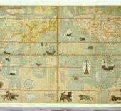 Mapa del sinfín de países del mundo. Versión dibujada a mano del mapa impreso confeccionado por Matteo Ricci en 1602. Reinado Wanli , 1572-1620. © Nanjing Museum.