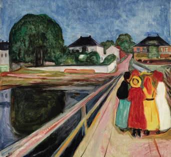Edvard Munch. PIKENE PÅ BROEN (GIRLS ON THE BRIDGE).