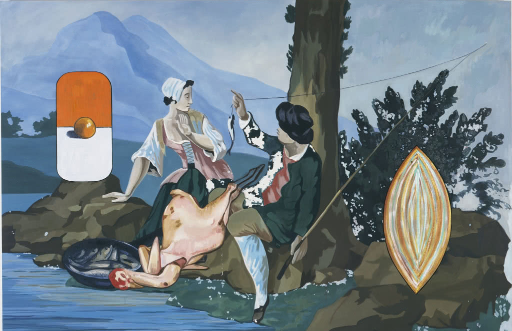 David Salle. Fishing, 1998.