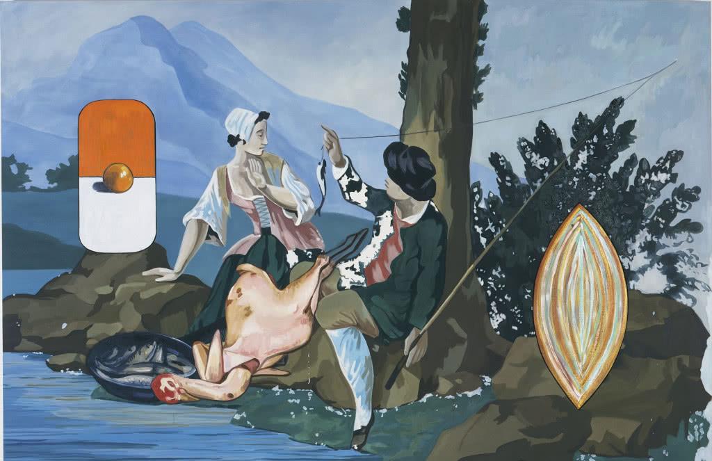 David Salle. Fishing, 1998.