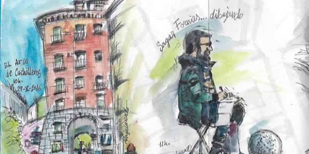 Dibujo de Ángel Lage (DibujaMadrid 2016).