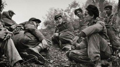 Enrique Meneses. Fidel Castro, Che Guevara y Camilo Cienfuegos.
