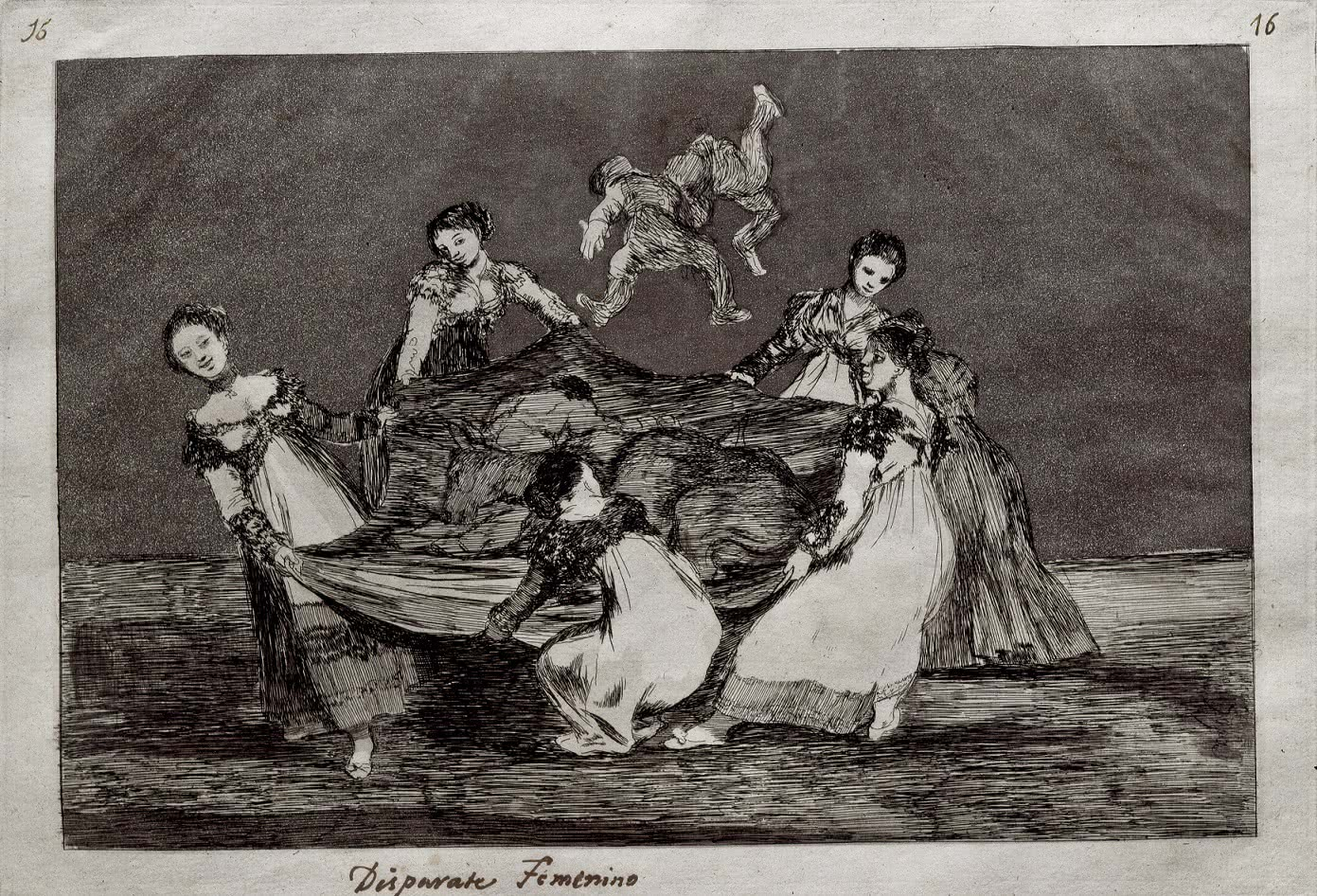Francisco de Goya y Lucientes. Disparate femenino, 1815-1816.