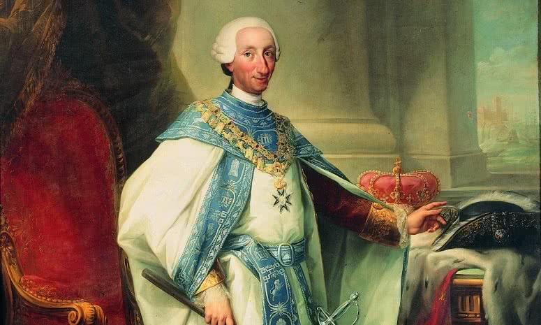 Retrato Carlos III (detalle).