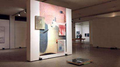 Vista de la exposición En proceso. Facultad de Bellas Artes de la Universidad Complutense de Madrid.