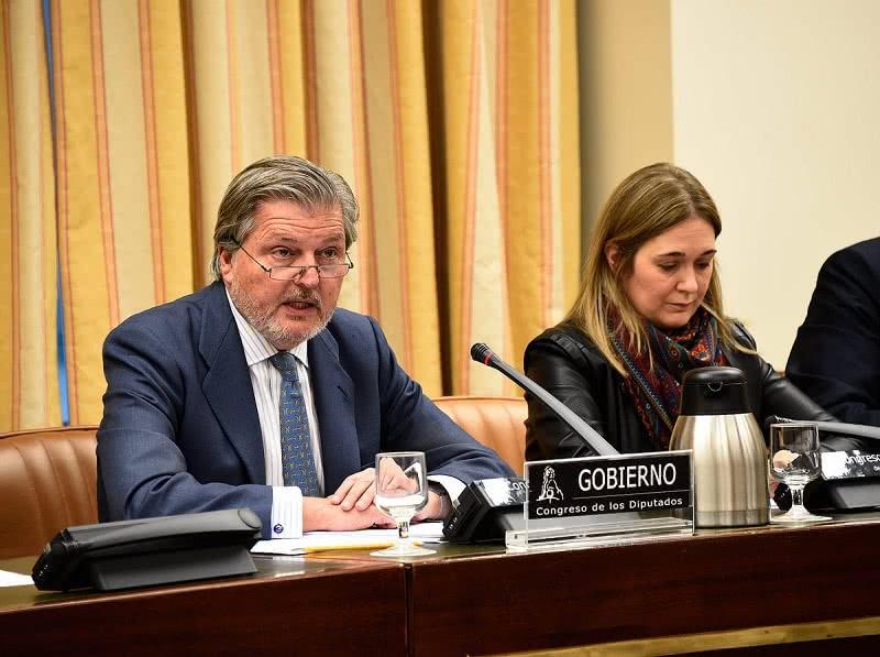 Íñigo Méndez de Vigo en su comparecencia en la Comisión de Cultura del Congreso de los Diputados.