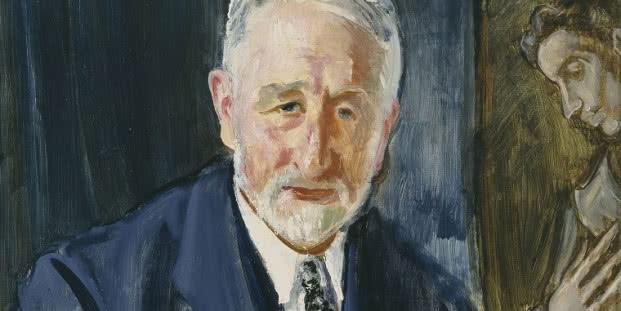 Maurice Fromkes, Retrato de Manuel B. Cossío, [1925-1930]. Óleo sobre lienzo, 74 x 56 cm. Museo Nacional del Prado, Madrid.
