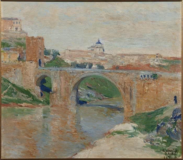 Aureliano de Beruete y Moret, Puente de Alcántara, Toledo, 1906. Óleo sobre lienzo, 54 x 47 cm. Dedicado a Francisco Acebal. Colección Gerstenmaier.