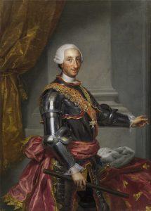 Antón Rafael Mengs. Carlos III. Hacia 1765.