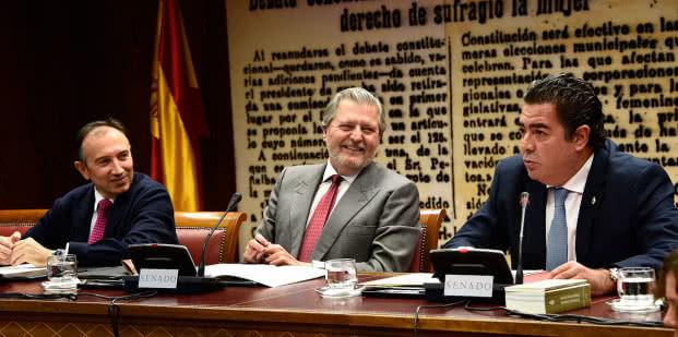 El ministro de Educación, Cultura y Deporte, Íñigo Méndez de Vigo, durante su comparecencia en el Senado.