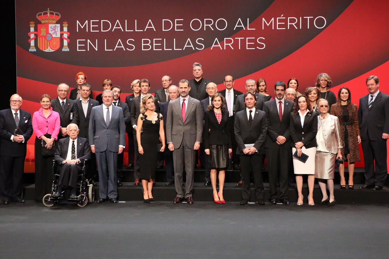 Entrega de las Medallas de Oro al Mérito en las Bellas Artes 2015.
