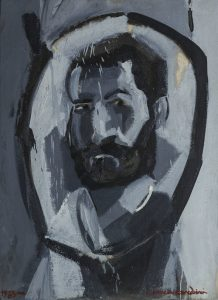 Xabier Correa Corredoira. Autorretrato, 1983. Óleo sobre tela].