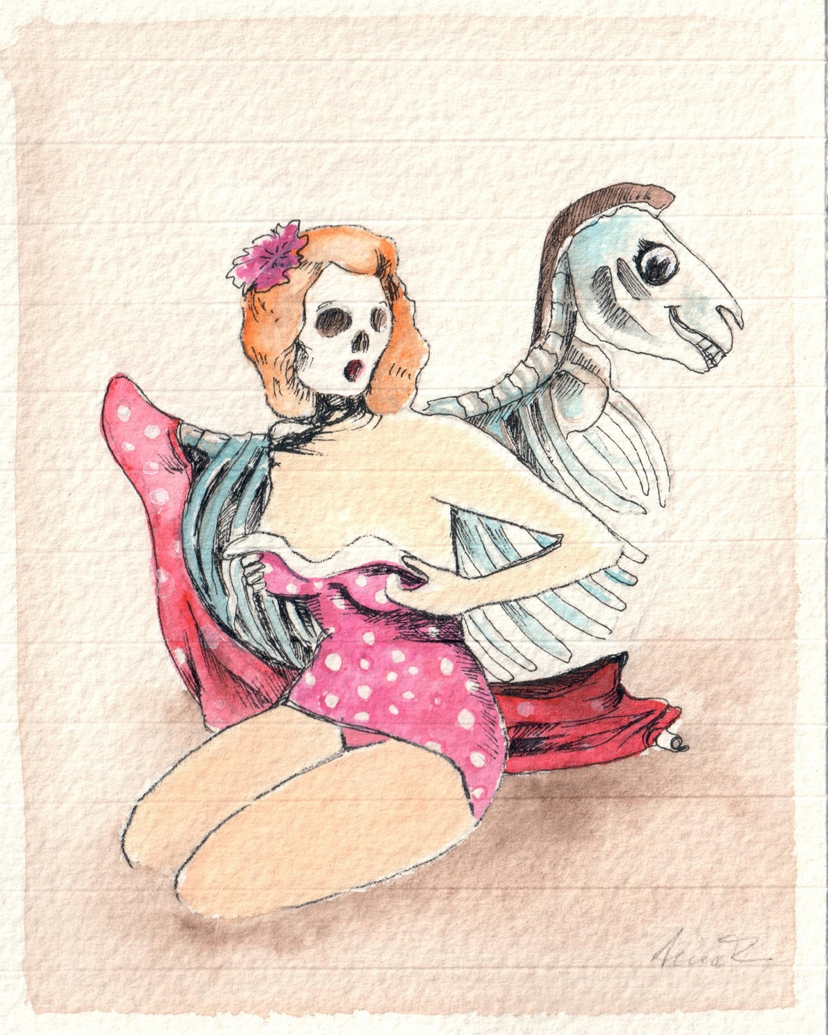 Anna Turina. Pin Up, Skull Duck, 2016.