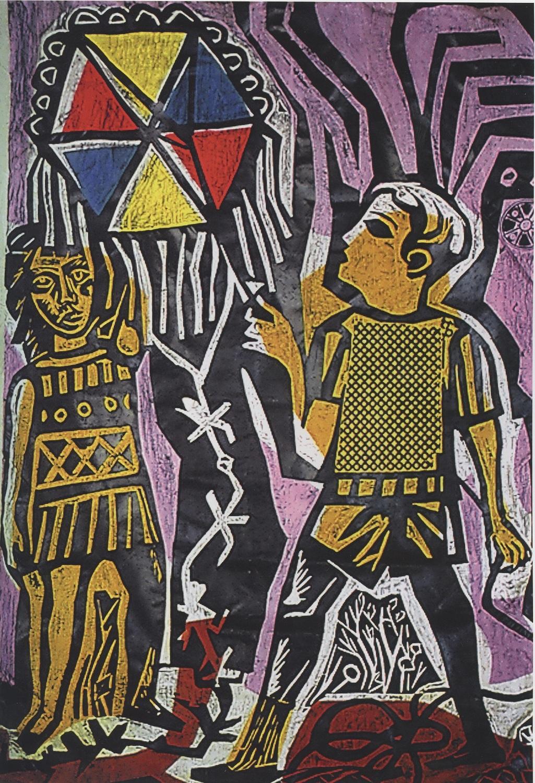 Antonio Berni. Juanito remontando un barrilete, 1961.