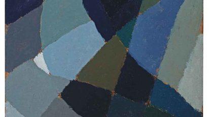 Esteban Lisa. Composición, ca. 1940. Óleo sobre cartón. 30 x 23 cm. Colección particular.
