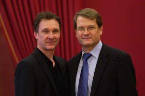 Manuel Legris y el maestro Valery Ovsyanikov.