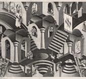 Maurits Cornelis Escher. Concavo convesso, 1955.
