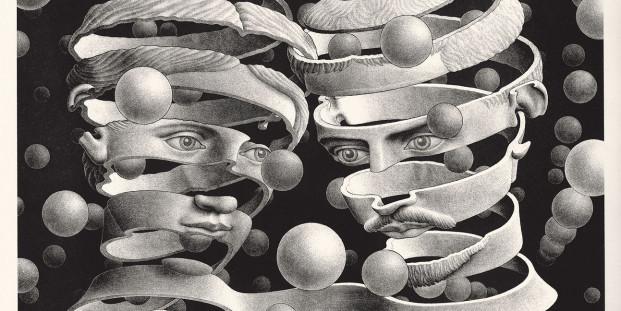 Maurits Cornelis Escher. Vincolo d'unione, 1956.
