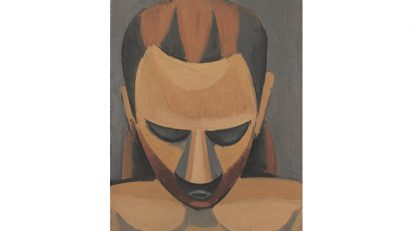 Pablo Picasso. Cabeza de hombre (Tête d'homme), 1908. Óleo sobre madera. 27 x 21 cm. Hermann und Margrit Rupf-Stiftung, Kunstmuseum Bern. © Sucesión Pablo Picasso, VEGAP, Madrid, 2016.