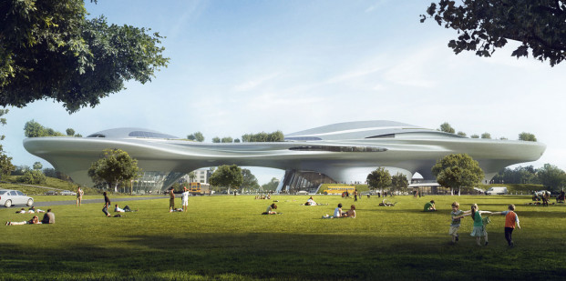 Courtesy of Lucas Museum of Narrative Art. CONCEPT DESIGN: LOS ANGELES RENDERINGS.