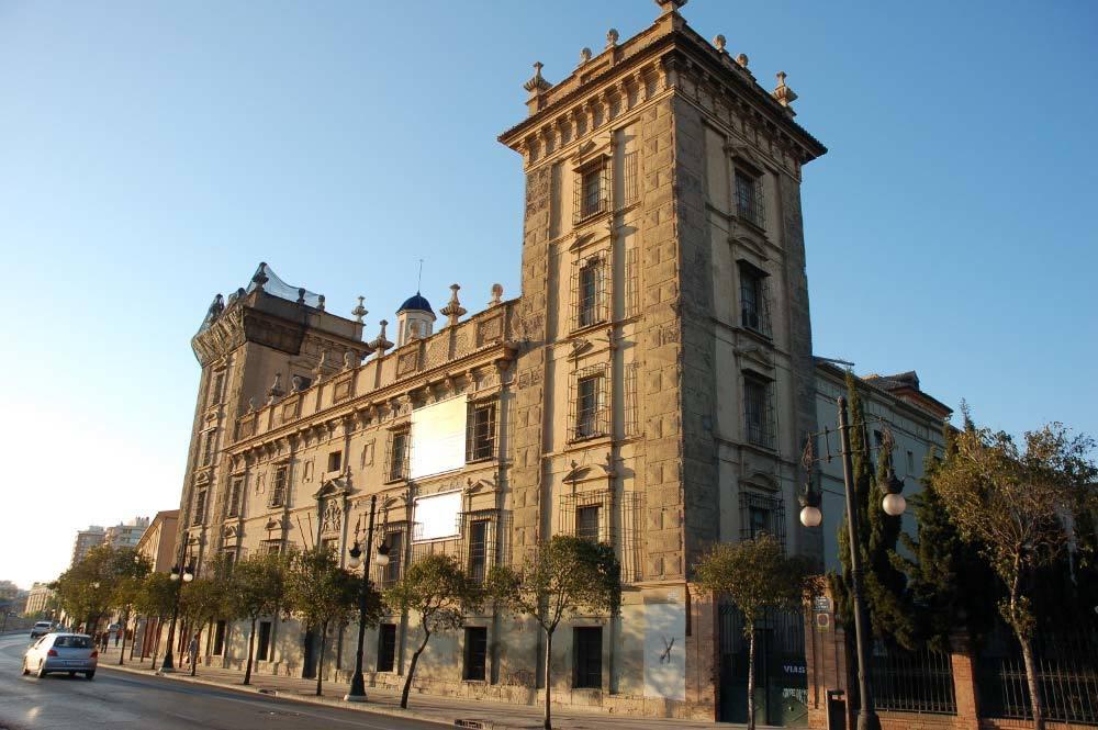 Museo BBAA Valencia. Fachada principal sur.