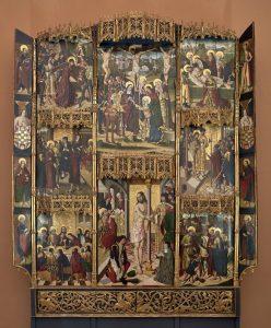 'Retablo de la Flagelación de Leonor de Velasco', después de 1486 y antes de 1494. Pintor del entorno del Maestro de la Visitación y Maestro de Oña (Fray Alonso de Zamora).
